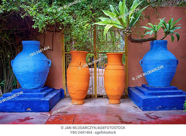 Majorelle Gardens in Marrakesh. Morocco