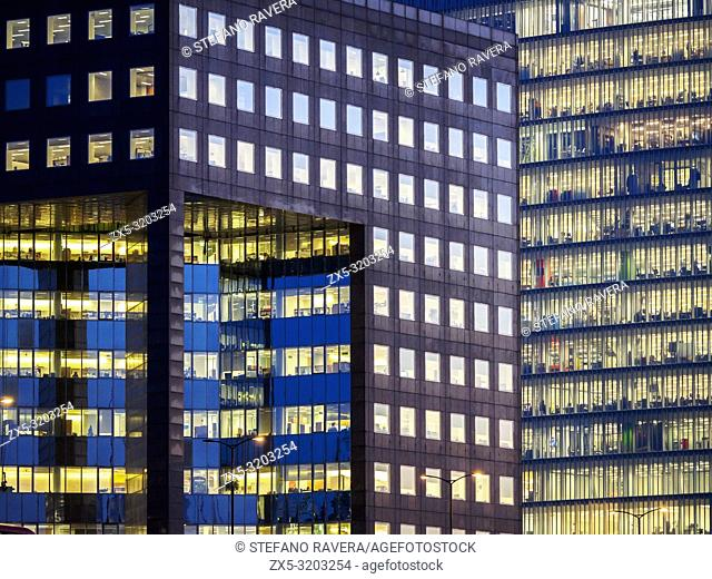 Detail of the Howard Kennedy building on the south bank of the River Thames just east of London Bridge - London, England