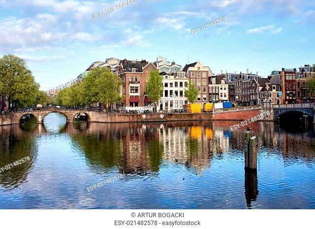 Amstel River in the City of Amsterdam