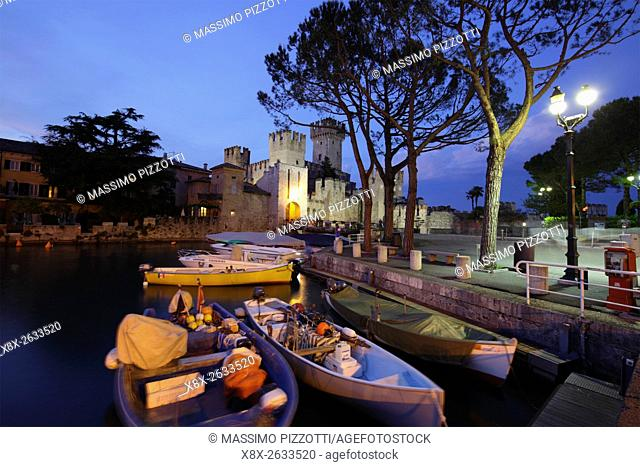 The scaliger castle of Sirmione, Italy
