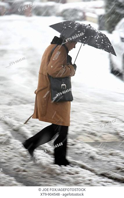 Snowfall, Newtownabbey, North Belfast, North Ireland