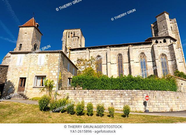 France, Gers (32), village of La Romieu on the way of Saint Jacques de Compostelle, collegiate Saint-Pierre and tower of cardinal d'Aux