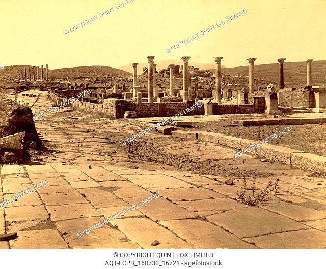 Thamugas Roman ruins, the Roman Market, Algiers, Neurdein brothers 1860 1890, the Neurdein photographs of Algeria including Byzantine and Roman ruins in Tébessa...