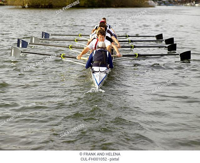 Full eight rowing