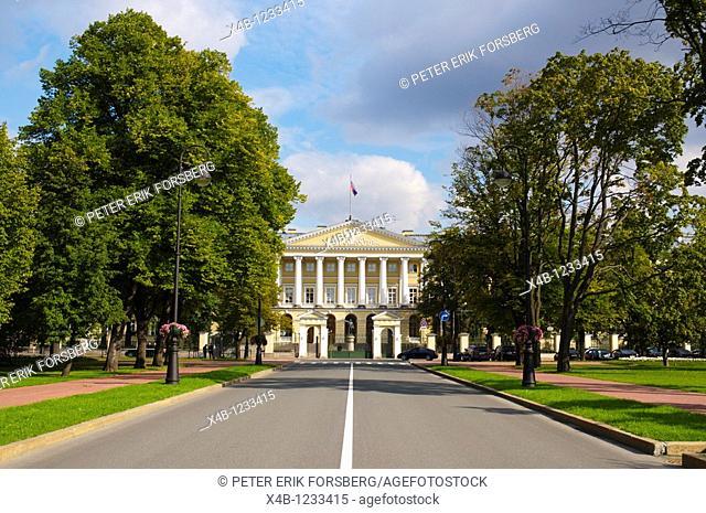Smolny institute Smolna park St Petersburg Russia Europe