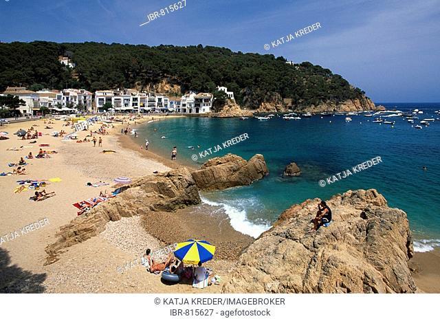 Beach in Aiguablava, Costa Brava, Catalonia, Spain, Europe