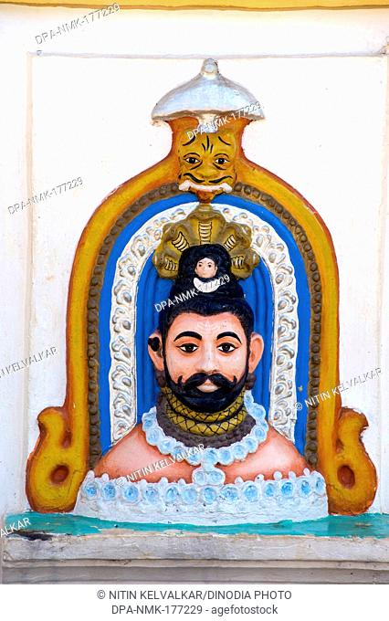 Sculpture of lord mangesha at priol , Ponda , Goa , India