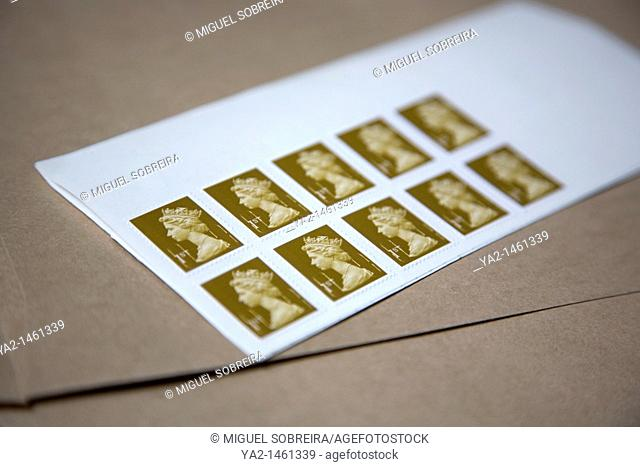 Set of 10 first class stamps UK