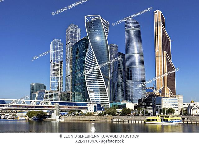 "High rise buildings of Moscow International Business Centre (MIBC), also known as ""Moscow City"""". Moscow, Russia"