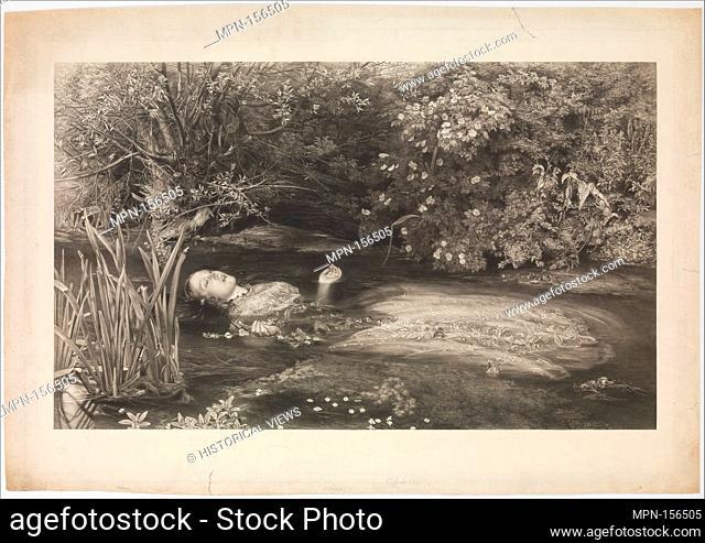 Ophelia (Shakespeare, Hamlet, Act 4, Scene 7). Artist: After Sir John Everett Millais (British, Southampton 1829-1896 London); Engraver: James Stephenson...