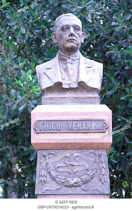 Sao Paulo; SP; Brazil; Mogi Mirim; Bust Chico Venancio; Square Rui Barbosa