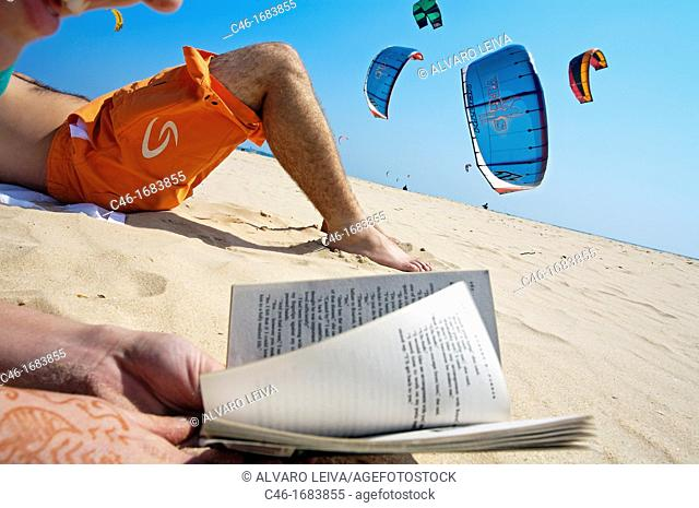 Kite-surfing  Tarifa, Cadiz province, Andalusia  Spain