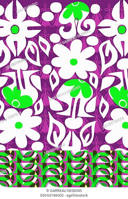 Cartoon floral design