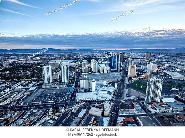 Las Vegas from above, skyline