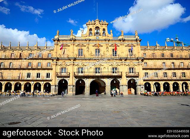 Salamanca, Spain - November 15, 2018: Square Mayor of Salamanca