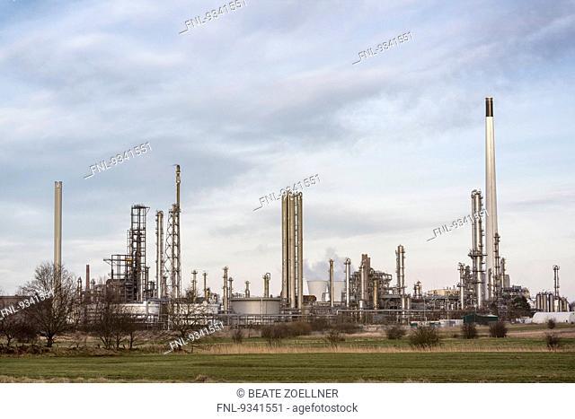 Refinery in Hemmingstedt, Dithmarschen, Schleswig-Holstein, Germany
