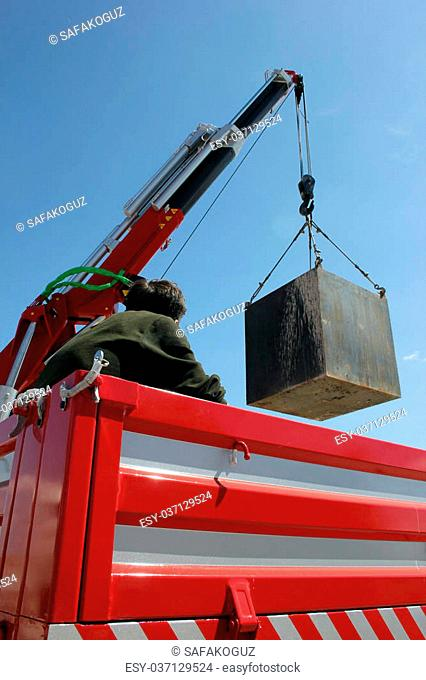 Crane hook and cargo container