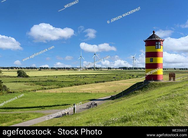 Pilsum Lighthouse, Pilsum, Lower Saxony, Germany, Europe