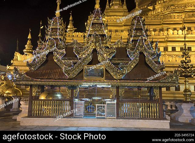 Myanmar: Bagan- General-View of a subsidary shrine in front of Shwezigon Pagoda