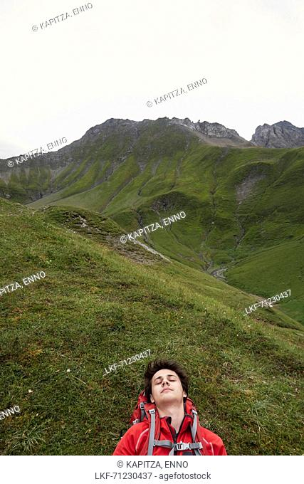 Father and his seventeen year old son crossing the alps from Oberstdorf/Germany-Lechtal-Verwall-Silvretta/all Austria-to Unterengadin/Switzerland and...