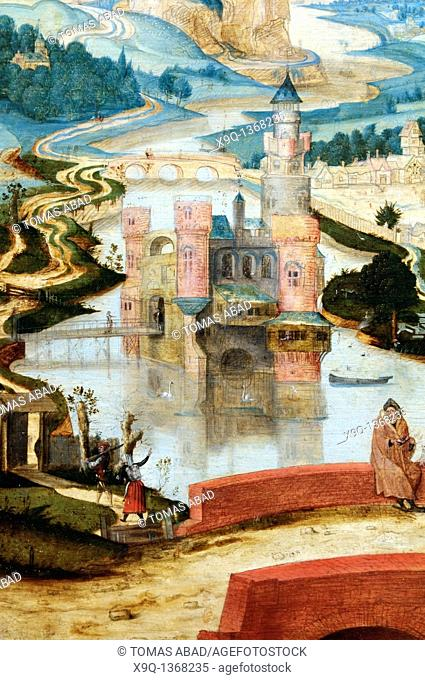 Detail: The Arrival in Bethlehem, ca  1540, Attributed to Master LC Netherlandish, active second quarter 16th century, Oil on wood 26 1/2 x 36 7/8 in  67 3 x 93...