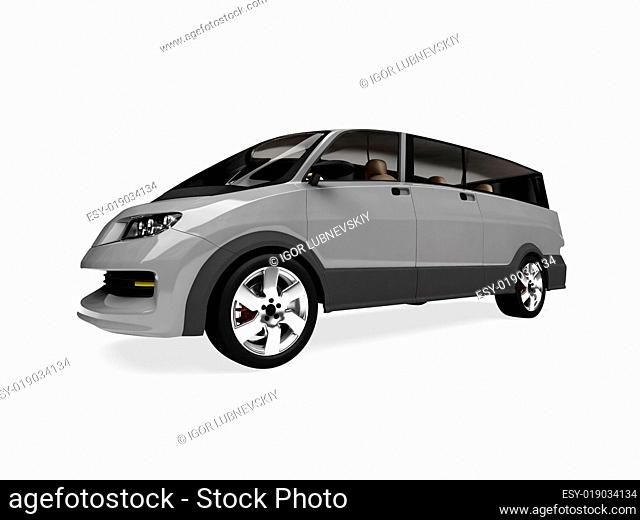 Future concept of car isolated view