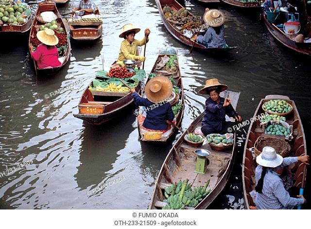 Damnoensaduak Floating Market, Thailand