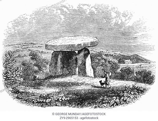 Kit's Coty House or Kit's Coty , is a chambered long barrow located near to the village of Addington in the southeastern English county of Kent