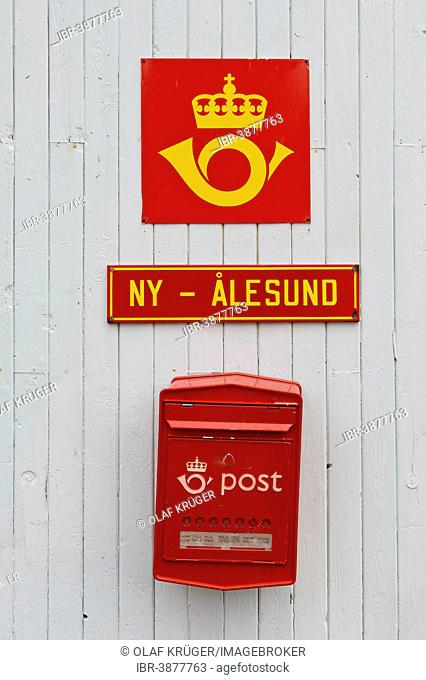Mailbox, the northernmost post office in the world, Ny-Ålesund, Spitsbergen Island, Svalbard Archipelago, Svalbard and Jan Mayen, Norway