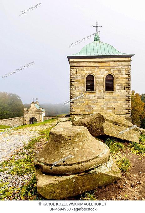 Holy Cross Benedictine Monastery, Lysa Gora, Swietokrzyskie Mountains, Swietokrzyskie Voivodeship, Poland