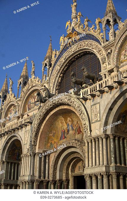 front of Doge's Palace, Piazza San Marco, Venice, Italy