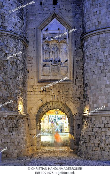 Thalassini Gate, Rhodes Town, Rhodes, Greece, Europe