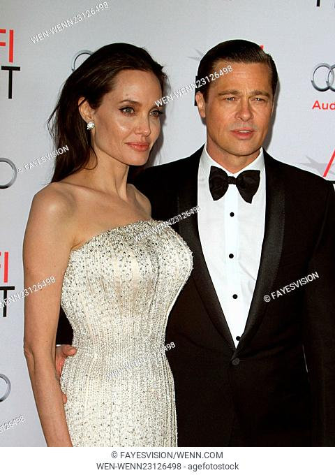 """AFI FEST 2015 Presented By Audi Opening Night Gala Premiere Of Universal Pictures' """"""""By The Sea"""""""" Featuring: Angelina Jolie Pitt, Brad Pitt Where: Hollywood"""