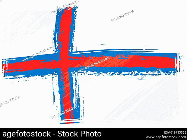 Grunge Faroe Islands flag