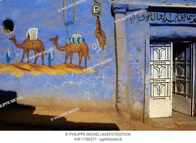 Egypt, Nile valley, Aswan, Nubian village around Aswan