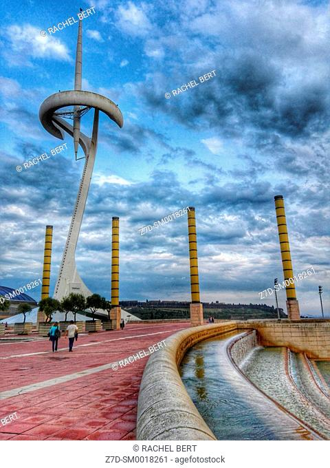Olympic Park in Montjuic, Barcelona, Catalonia, Spain