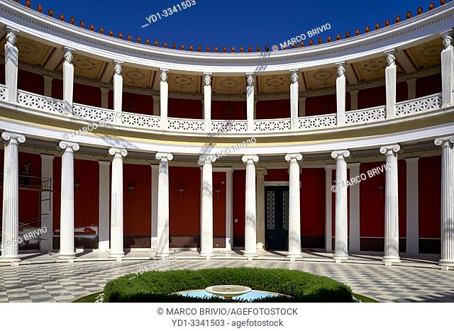 Athens Greece. The inner courtyard of the Zappeio Hall, now used as a conference center