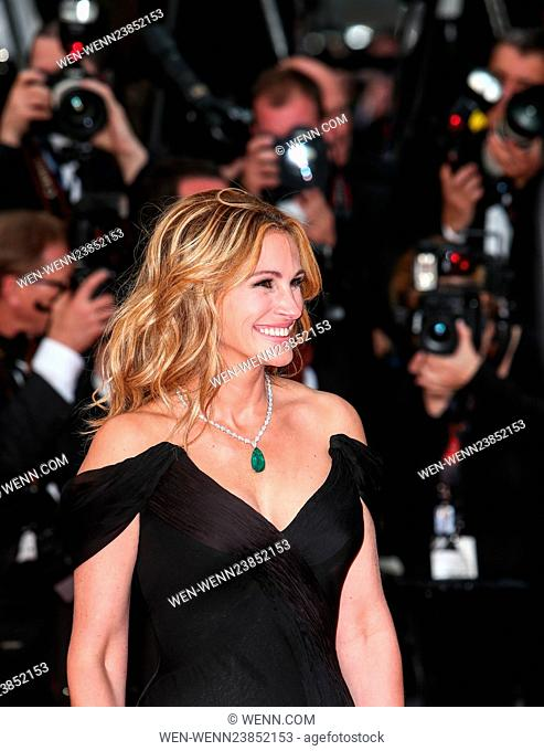 69th Cannes Film Festival - 'Money Monster' - Premiere Featuring: Julia Roberts Where: Cannes, France When: 12 May 2016 Credit: WENN.com