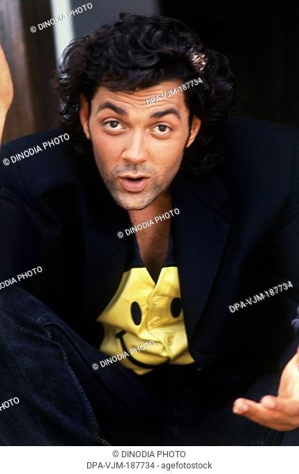 1995, Portrait of Indian film actor Bobby Deol
