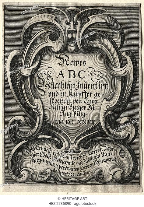 New ABC Booklet: Title Page, 1627. Creator: Lucas Kilian (German, 1579-1637)