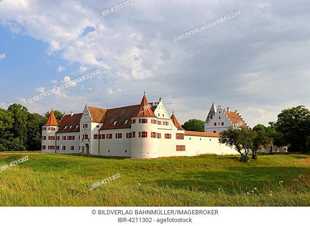 Former hunting castle of Grünau, Neuburg an der Donau, Upper Bavaria, Bavaria, Germany