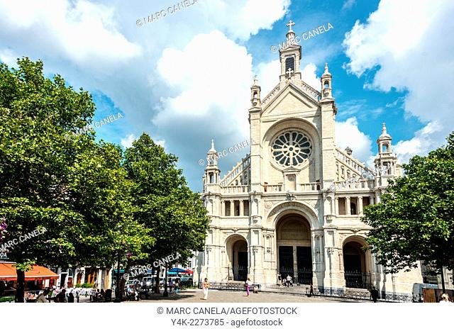 Church of Sainte-Catherine in neo-Renaissance style, Place Sainte-Catherine, Brussels, Belgium