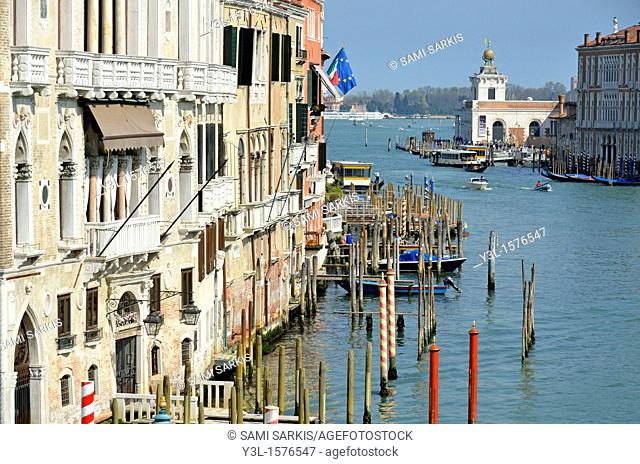 Grand Canal view from Academia Bridge, Venice, Italy