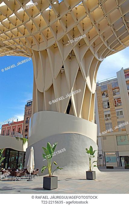 Sevilla (Spain). Metropol Parasol in the square of the Encarnacion in Seville