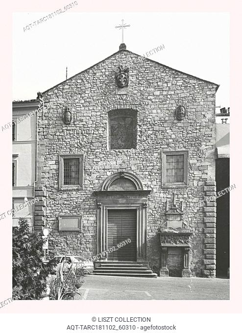 Lazio Viterbo Viterbo S. Angelo in Spata, this is my Italy, the italian country of visual history, Exterior views of romanesque church, renovated in 18th c