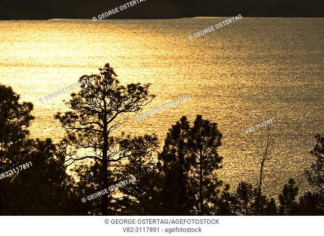 Holter Lake sunset, Beartooth Wildlife Management Area, Montana