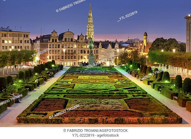 Garden of the Mont des Arts /Kunstberg , Brussels