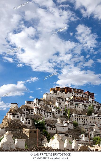 view at Thiksey monastery in Ladakh, India