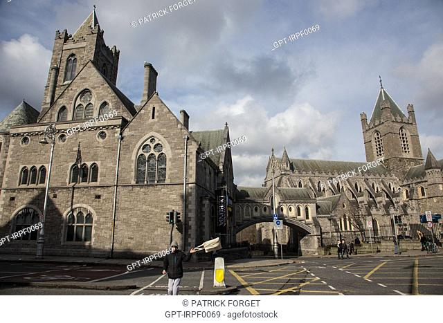 THE EXTERIOR OF THE CHRIST CHURCH CATHEDRAL, DUBLIN, IRELAND