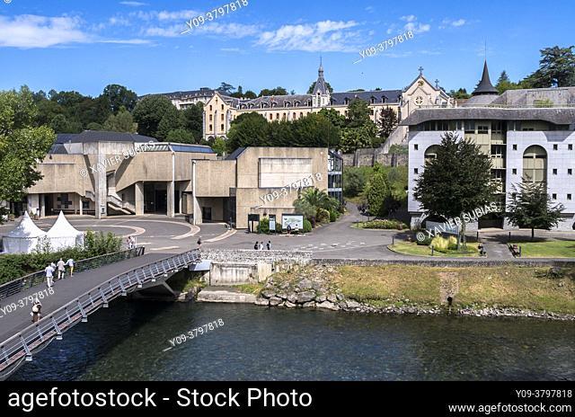 Church of St. Bernadette, Sanctuary of Lourdes, Lourdes, Hautes-Pyrenees department, Occitanie, France